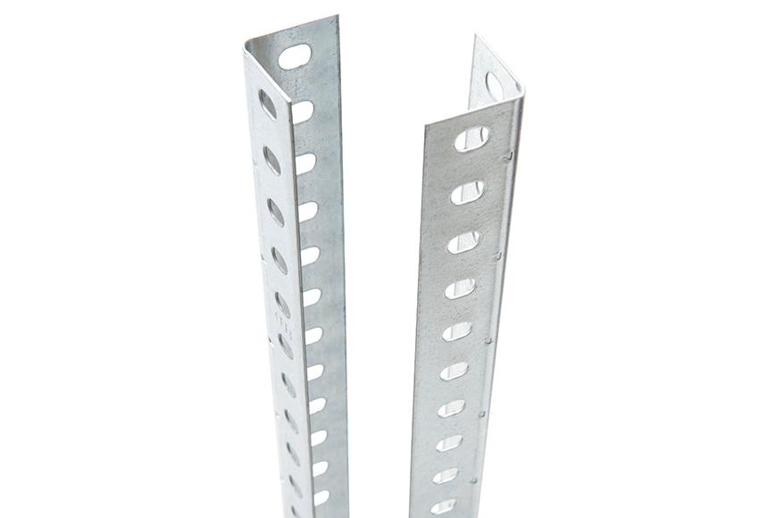 Perfil ngulo ranurado 35 x 35 mm ref 15377572 leroy merlin for Perfil u aluminio leroy merlin