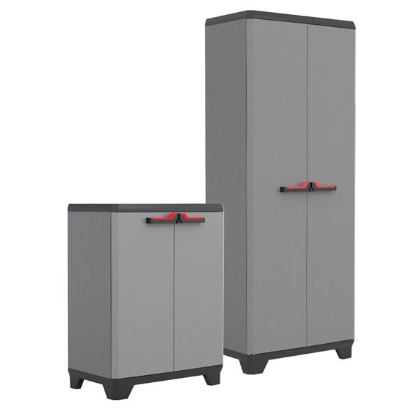 Lote de armarios de resina alto y bajo stilo ref 17574991 - Armario de plastico para exterior ...