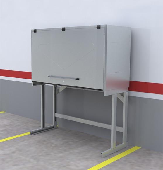 Armario trastero 1 puerta premium galva sp 200 x 233 x 80 - Armarios para garaje ...