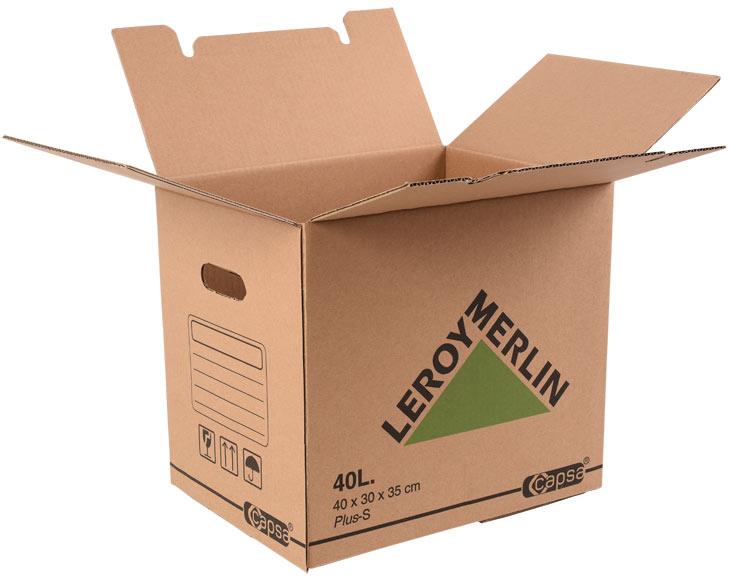 Caja de cart n plus 40 litros ref 15305311 leroy merlin - Carton emballage leroy merlin ...