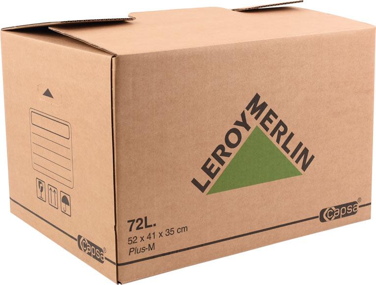 caja de cart n plus 72 litros ref 15305430 leroy merlin. Black Bedroom Furniture Sets. Home Design Ideas