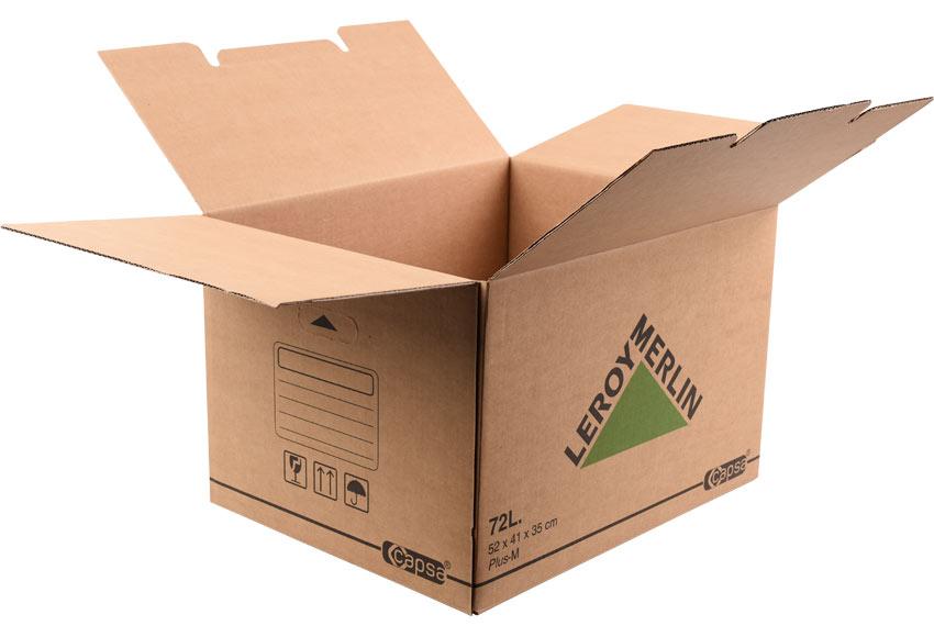 Caja De Carton Plus 72 Litros Ref 15305430 Leroy Merlin