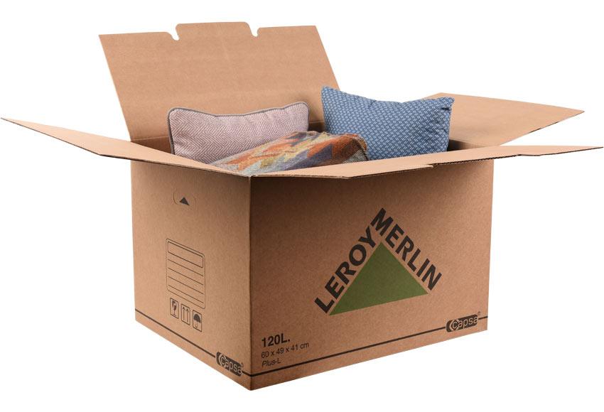 Caja De Carton Plus 120 Litros Ref 15305493 Leroy Merlin