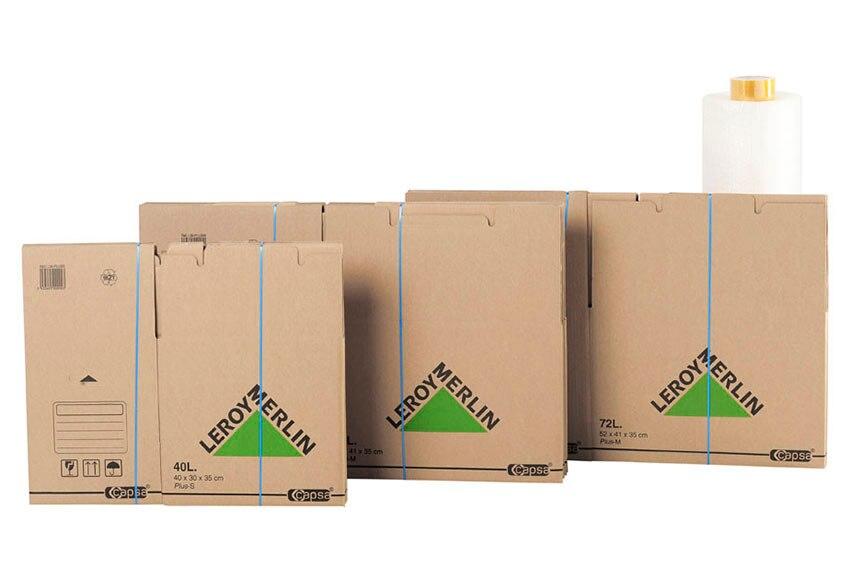 Cajas De Carton Cinta Y Rollo De Burbujas Pack Mudanza Ref