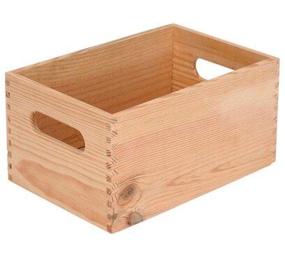 Caja de madera basic ref 13909154 leroy merlin - Cajitas de madera para decorar ...