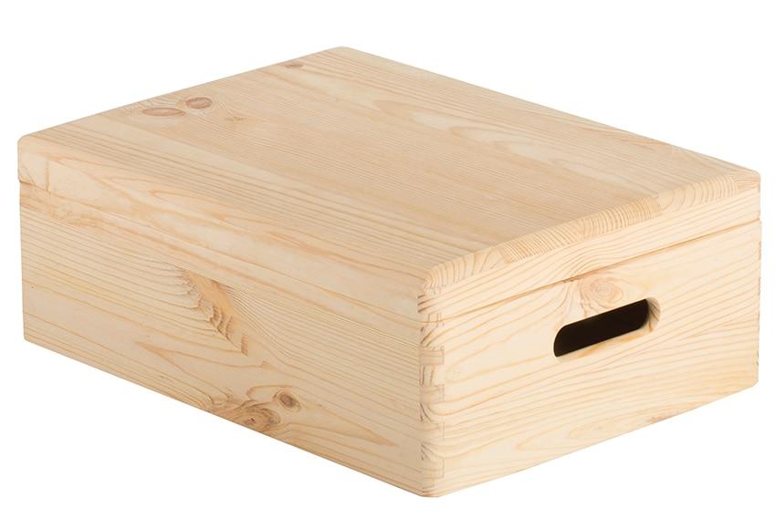 Caja de madera tapa ref 17416070 leroy merlin for Caja madera con tapa