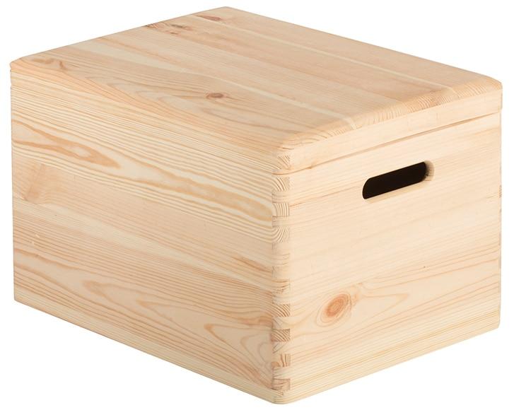 Caja de madera tapa ref 17416084 leroy merlin - Cajas de madera decorativas ...