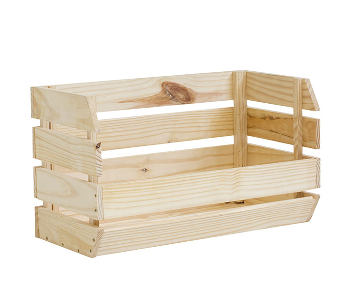 Caja de madera apilable ref 17770424 leroy merlin for Madera leroy merlin