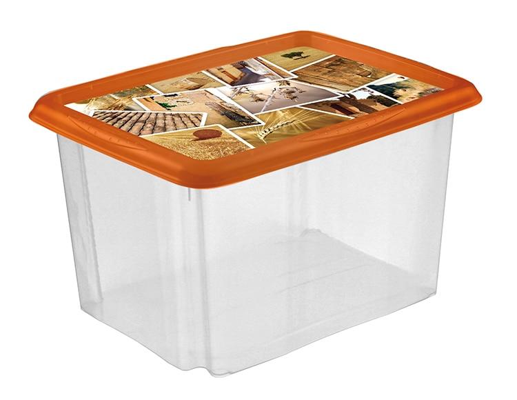 Caja de pl stico transparente deco ref 15289092 leroy for Cajas de plastico transparente