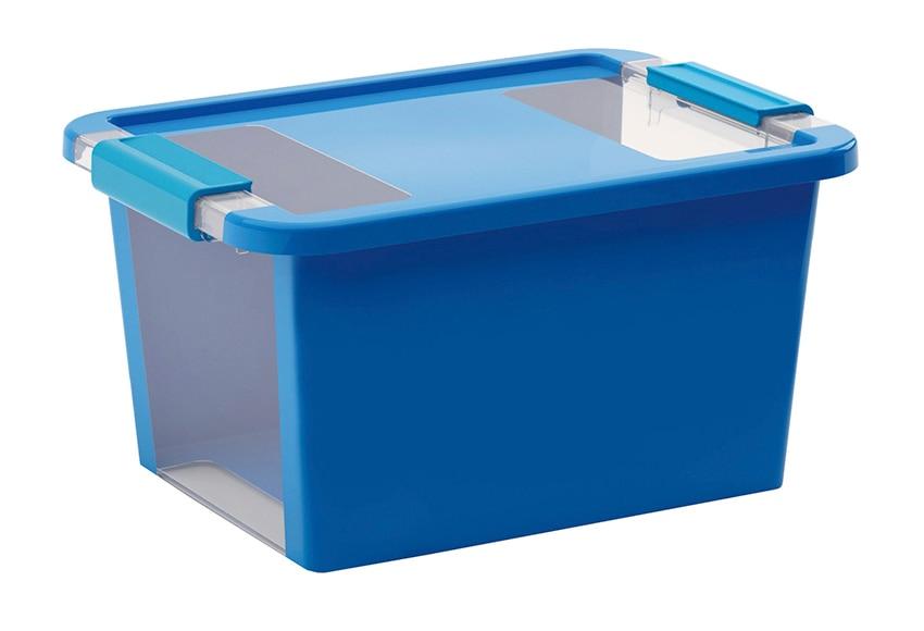 Caja de pl stico azul bibox ref 15880284 leroy merlin for Cajas almacenaje leroy merlin
