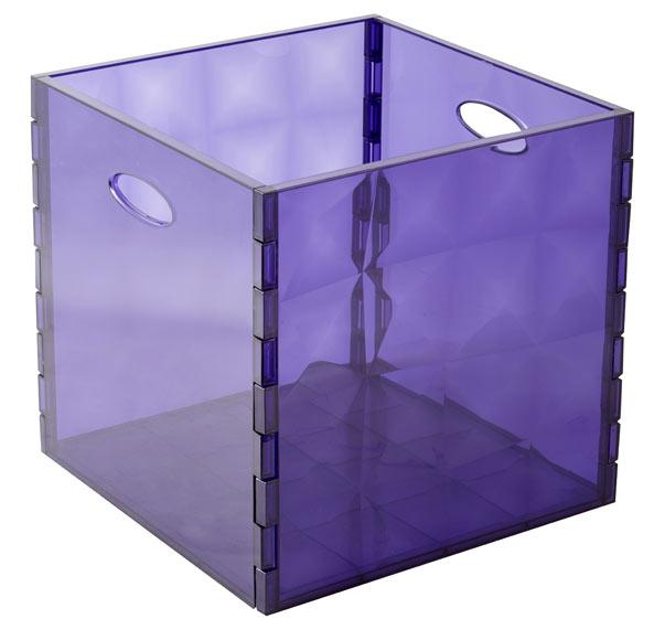 Caja de pl stico violeta cristal ref 17480813 leroy merlin for Leroy cajas ordenacion