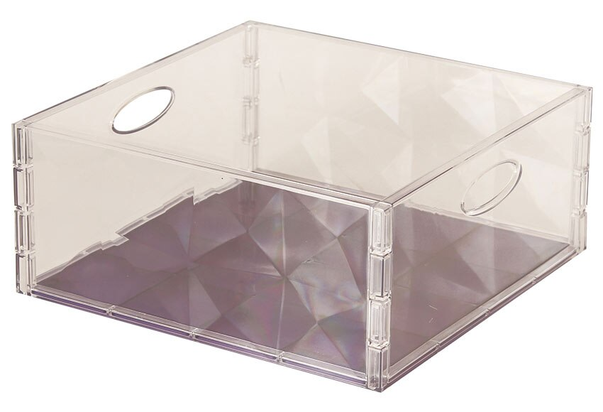 Caja de pl stico transparente cristal ref 17756326 for Leroy cajas ordenacion