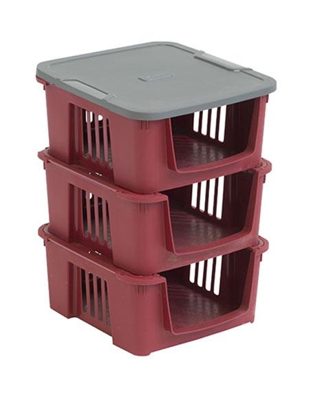 3 cajas de pl stico proton ref 17770312 leroy merlin for Cajas almacenaje leroy merlin
