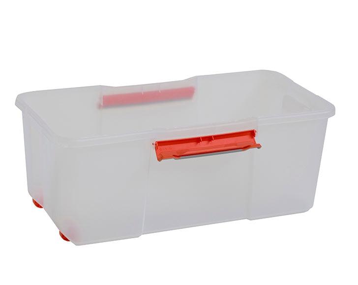 Caja de pl stico transparente atlas ref 17771915 leroy for Cajas de plastico transparente