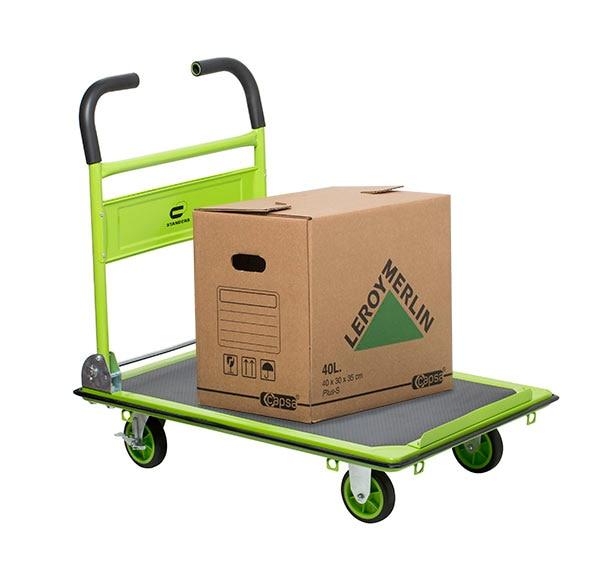 Carretilla de transporte standers acero plegable 300kg ref - Carretillas de transporte ...