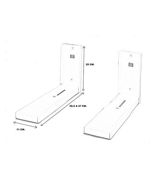 Lote de dos soportes para microondas pie ancho blanco ref - Soporte de microondas ...