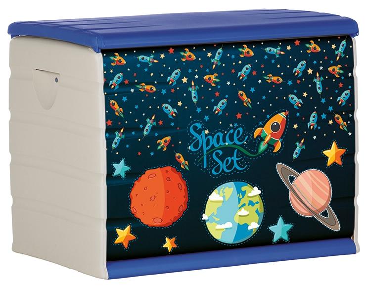 Ba l de resina 80cm space ref 19194693 leroy merlin for Decorar baul infantil
