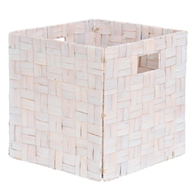 Cesta natural DAMACO NATURAL BLANCO1 31X31X31 CM