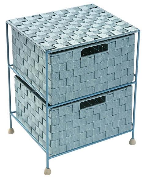 Cajonera nali nylon azul 29 x 44 x 35 cm 2 cajones ref 17776815 leroy merlin - Cajoneras para armarios leroy merlin ...