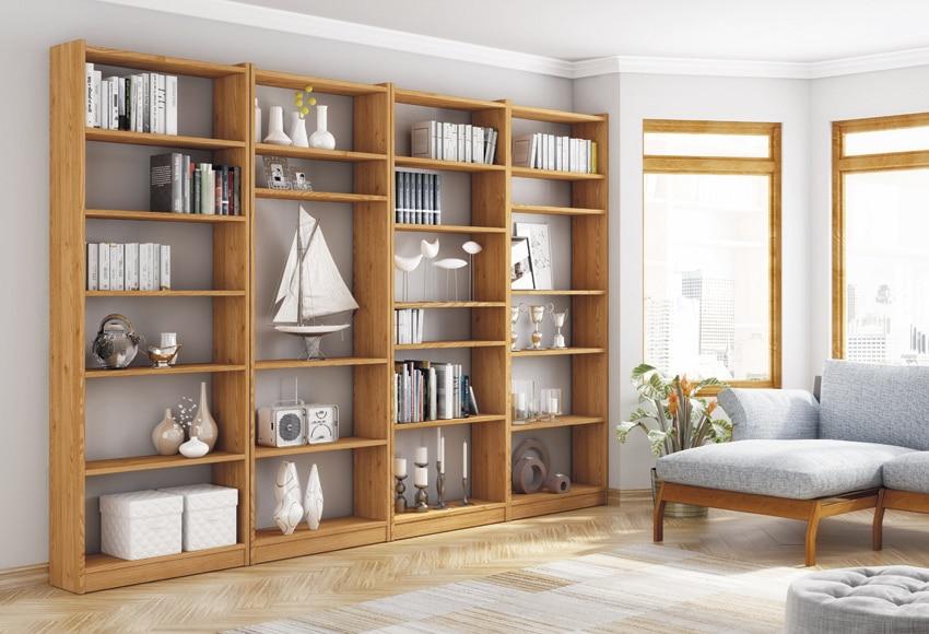 Serie pino gala miel leroy merlin - Estanterias de madera para libros ...