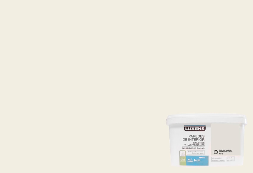 Blanco marfil 5 luxens blanco marfil 5 ref 260101 - Color marfil en paredes ...