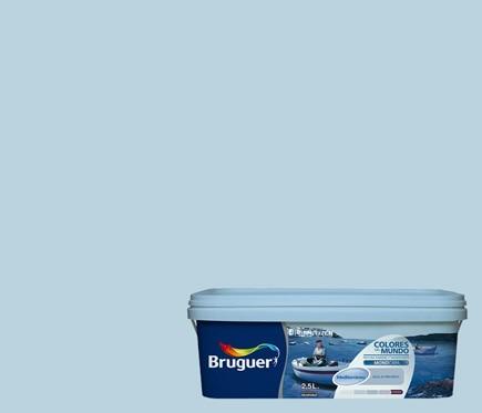Colores del mundo mediterraneo azul intermedio bruguer - Bruguer colores del mundo leroy merlin ...