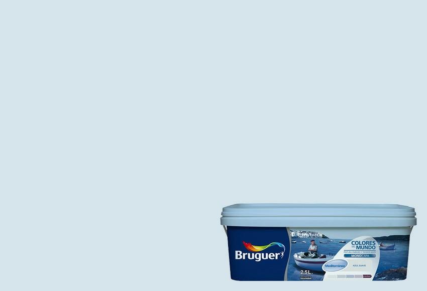 Colores del mundo mediterraneo azul suave bruguer colores - Bruguer colores del mundo leroy merlin ...