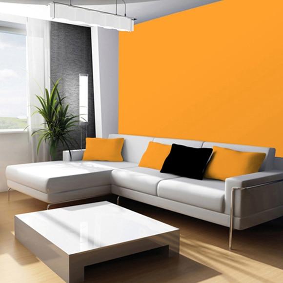 Pintura de color para paredes y techos tit n colors - Color mandarina en paredes ...