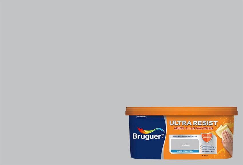 Pintura de color para paredes y techos bruguer gris for Pintura gris perla bruguer