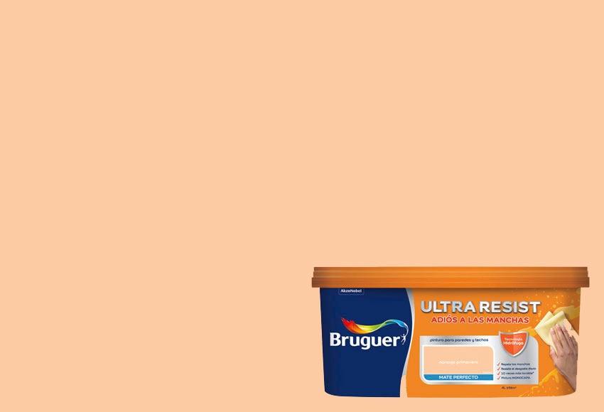 pintura de color para paredes y techos bruguer naranja