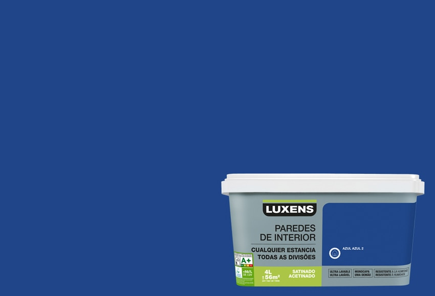 Pintura de color para paredes y techos luxens ultralavable for Pintura azul grisaceo