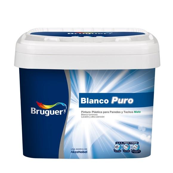 Pintura blanca para interior bruguer blanco puro mate ref - Pintura exterior leroy merlin ...