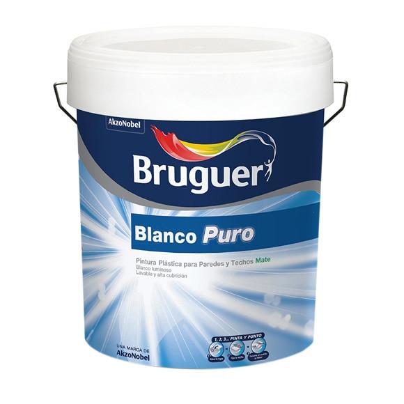 Pintura blanca para interior bruguer blanco puro mate ref - Pintura monocapa bruguer ...