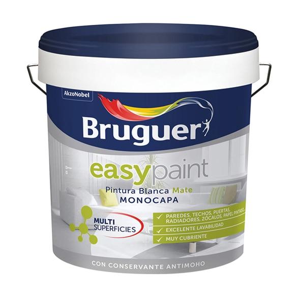 Pintura blanca para interior bruguer easy paint mate ref for Pintura aislante acustica leroy merlin