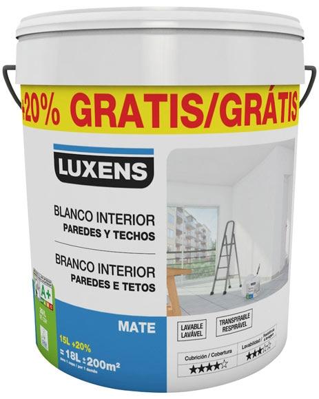 Pintura blanca para interior luxens mate ref 18086985 - Leroy merlin pintura interior ...
