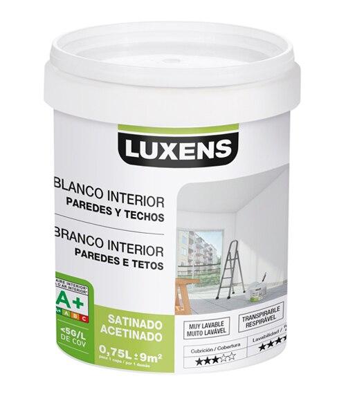 Pintura blanca para interior luxens satinada ref 18087160 - Leroy merlin pintura interior ...