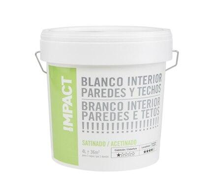 Pintura blanca para interior satinada impact ref 18087146 - Pintura satinada blanca ...