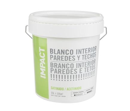 Pintura blanca para interior satinada impact ref 18087153 - Pintura satinada blanca ...