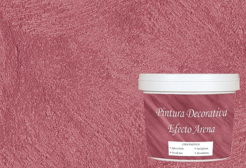 Pintura decorativa con efectos osaka arena rojo ref for Pintura plastica leroy merlin