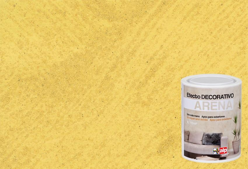 pintura decorativa con efectos alp efecto arena amarillo