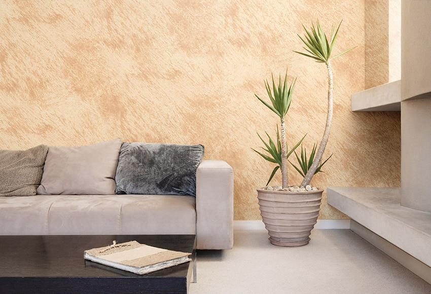 Pintura decorativa con efectos alp efecto arena beige for Pintura color arena paredes