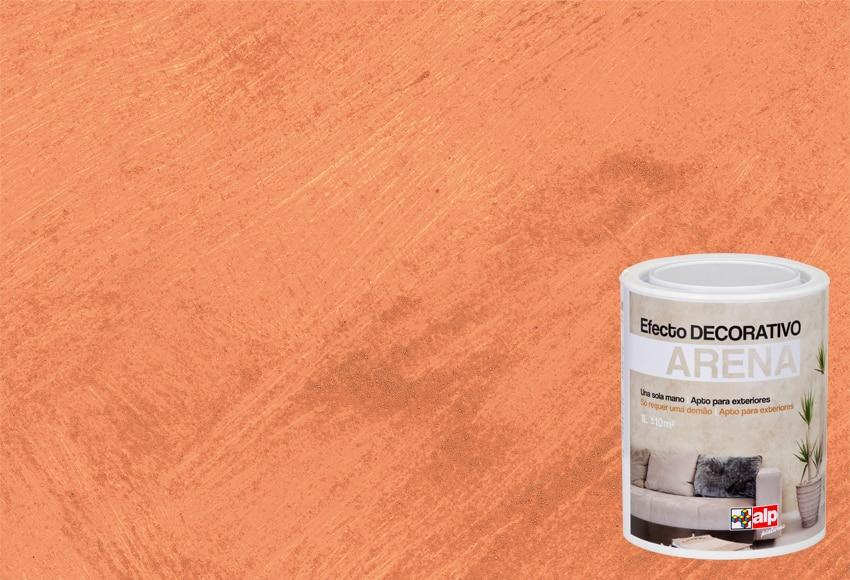 pintura decorativa con efectos alp efecto arena naranja