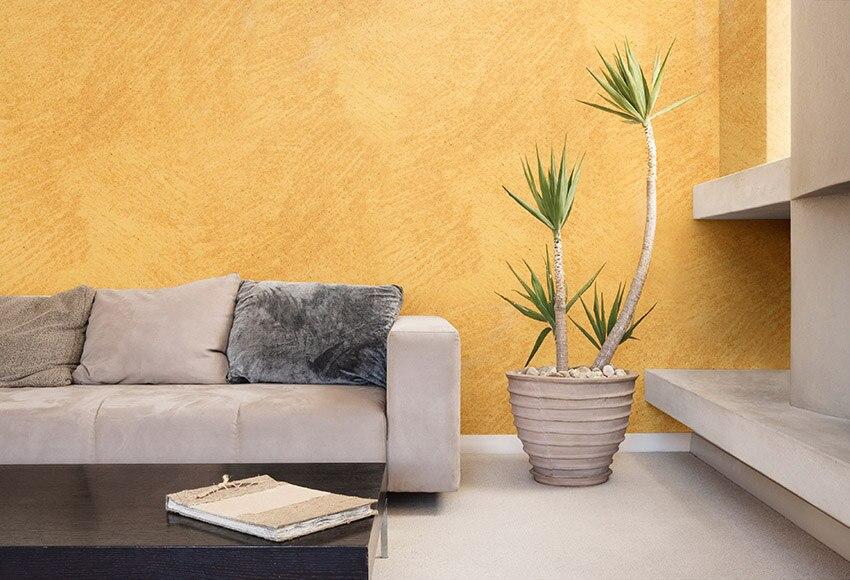 Pintura decorativa con efectos alp efecto arena naranja - Leroy merlin pinturas decorativas ...