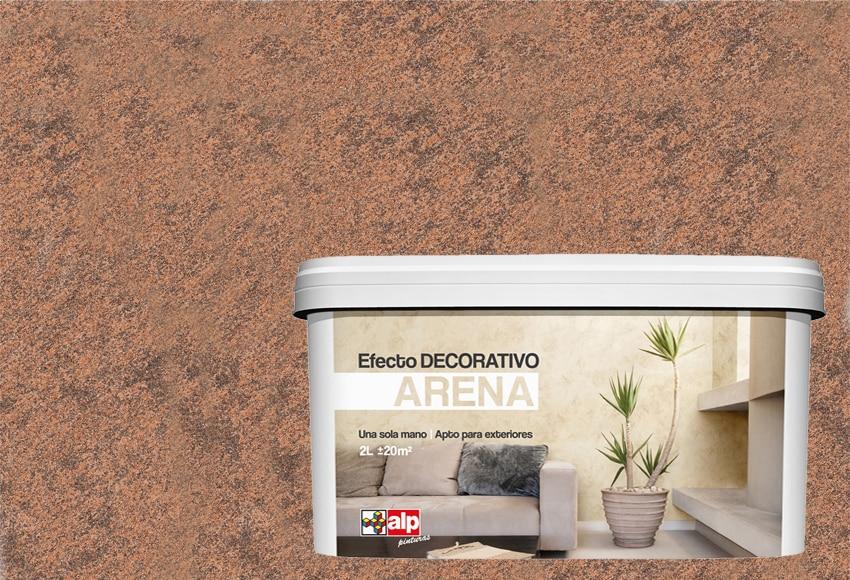 Pintura decorativa con efectos alp efecto arena tabaco ref - Pinturas decorativas leroy merlin ...