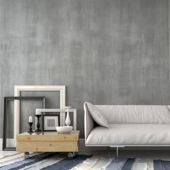 Pintura decorativa con efectos hormig n interior gris ref - Pinturas decorativas leroy merlin ...