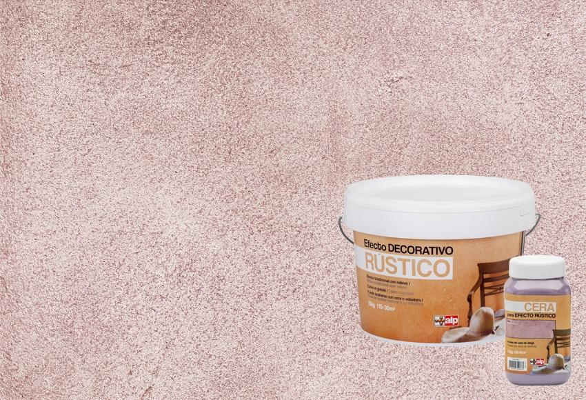 R stico rosa palo leroy merlin for Pintura efecto piedra
