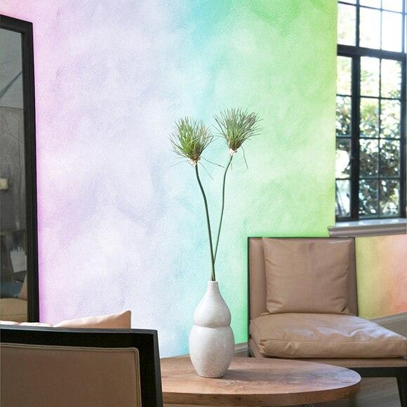 Pintura decorativa con efectos alp veladura tintometrica for Pintura efecto envejecido leroy merlin
