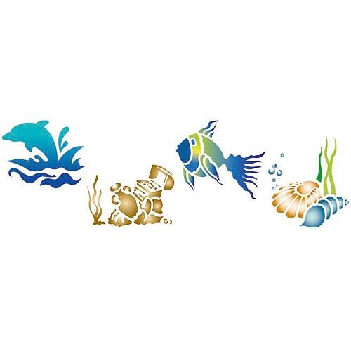 Les decoratives plantilla decorativa n 77 vista submarina for Les decoratives leroy merlin
