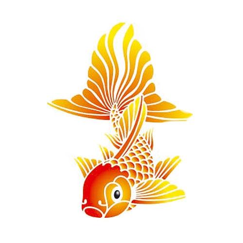 Les decoratives plantilla decorativa n 157 pez chino - Les decoratives leroy merlin ...