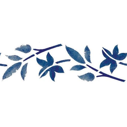 Plantilla decorativa brico n 373 hojas ref 14430885 - Plantillas para pintar paredes ikea ...